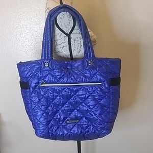 Calvin Klein blue quilted reversible bag